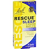 Bach Flower Remedies Rescue Sleep Liquid Melts - 28 Capsules (Pack of 2)