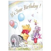 バースデーカード ディズニー プー ボイス・パーティー EAO-770-105 ホールマーク 二つ折り グリーティングカード オルゴールカード Birthday Card メール便可