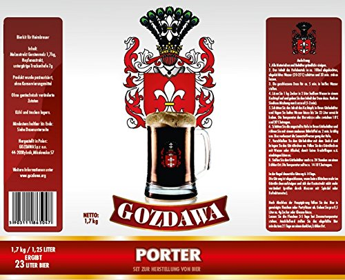 GOZDAWA Porter – Kit de cerveza de 1,7 kg para preparar cerveza hasta 23 litros – cervecería doméstica