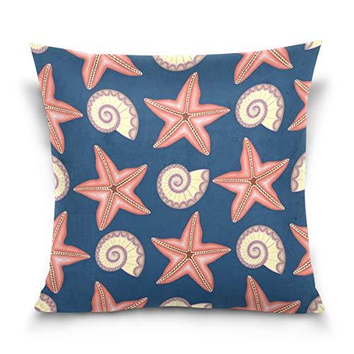 hengpai Starfish Square Pillow Cases Decorative Pillow Cover Cotton Velvet for Couch Safa