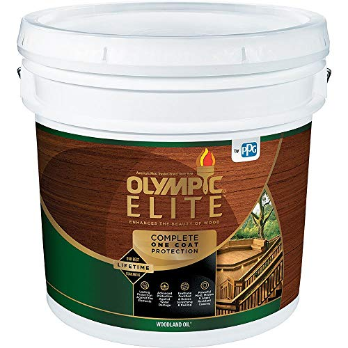 Olympic Stain 80114-3 Elite Woodland Oil Stain, 3 Gallons, Kona Brown