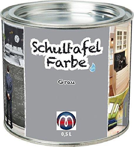 Tafelfarbe/Schultafel-Lack 0,5 L Dose - Tafel-Lack Wandtafelfarbe Kreidefarbe, Farbe:grau