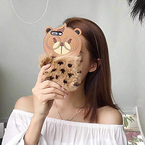 iPhone Xs MAX Silicone Case | Soft Crystal Matte Teddy Bear with Warm Fluffy Fur for Apple New iPhone Xs max (Brown)
