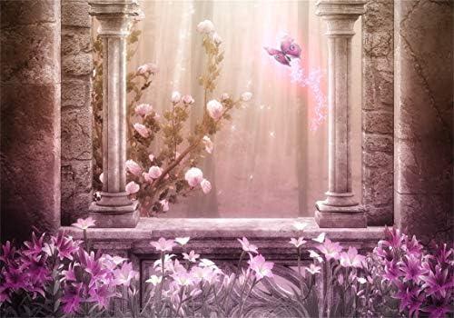 GoHeBe 7X5ft Fantasy Starry Backdrop Fantasy Starry Flowers Tree Photography Backdrops Photo Studio Background Props LYP123