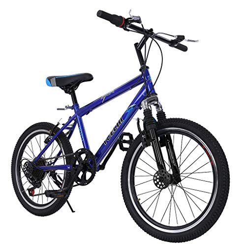 Ouneed Teens Hardtail Mountain Bike for Boys, Stone Mountain 20 inch 7-Speed ​​Bicycle