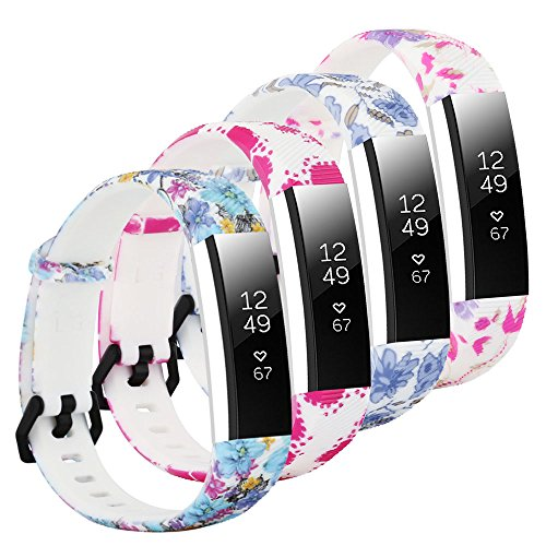 Baaletc Silicone Rubber Replacement Accessory Band/Wristband Bracelet Strap with Buckle for Fitbit Alta/HR/Ace Fitness Tracker(Large Size