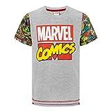 Marvel Comics - Camiseta de manga impresa para niño