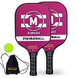 Pickleball Set, Pickleball Balls, Pickleball Paddles, Pickleball Paddle Set of 2, M-Pick Pickleballs Racket Ball Raquet with Pickleball Nets Bag