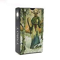 YWRB NEW高度なSHINE自然タロットカードの高品質紙ホログラフィック謎の動物占い運命のタロットカードゲーム (Color : NO BAG NEW SHINE)