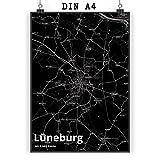 Mr. & Mrs. Panda Poster DIN A4 Stadt Lüneburg Stadt Black
