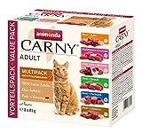 animonda Carny Adult Katzenfutter, Nassfutter für ausgewachsene Katzen, Frischebeutel, Mix,  8 x 85 g