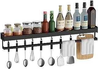 ZXKS Étagères de cuisine-étagère àépices, support de rangement mural multifonctionnel sans trou, assorti gratuit, crochet ...