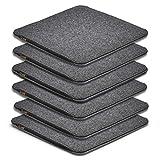 AMARE Home - Set di 6 cuscini in feltro reversibile, 35 x 35 cm, grigio scuro/grigio chiaro. Attenzione: imbottitura migliorata