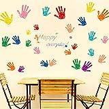 SLQUIETAdhesivos de pared de palma multicolores personalizables habitación de los niños dormitorio fondo sofá TV pintura decorativa en casa mural 97cm X 180CM