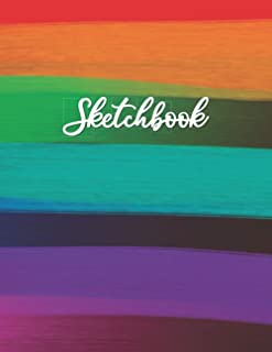 "Sketchbook: Large Sketchbook for Drawing, Doodling, or Sketching (110 Pages, 8.5"" x 11""). Sketchbook Blank Paper Drawing a..."