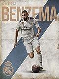 Grupo Erik Print Real Madrid Benzema, Multicolor, 30x40 cm