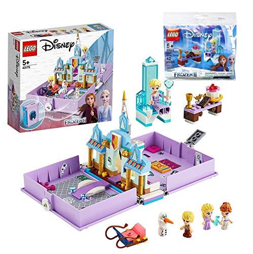 Legoo Lego 43175 Disney Princess - Juego de mesa y libro de cuentos de hadas de Anna y Elsa (incluye bolsa de plástico, a partir de 5 años)