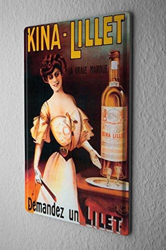 LEotiE SINCE 2004 Blechschild Dekoschild Küche Garage Nostalgie Alkohol Retro Kina Lillet