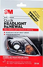 3M Quick Headlight Renewal, Helps Remove Light Haziness & Yellowing in Minutes, Hand Application, 1 Sachet