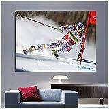 DOAQTE Lindsey Vonn - Alpine Ski Poster Leinwanddrucke Bild