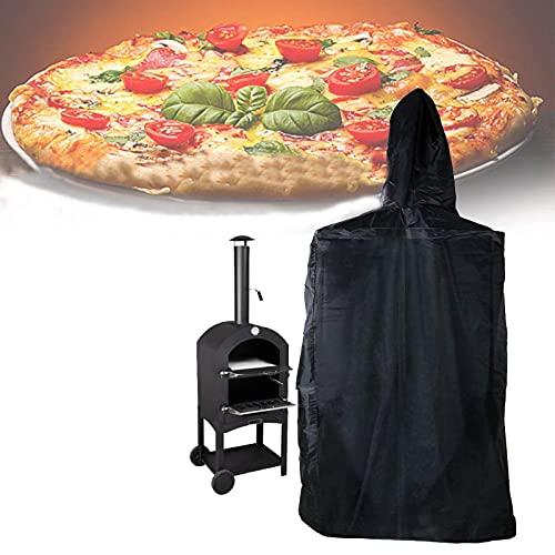 Cubierta para horno de pizza, cubierta protectora para parrilla al aire libre, impermeable, resistente al agua, a la intemperie, horno de pizza, horno de carbón, ahumador (tamaño: 160 x 37 x 50 cm)