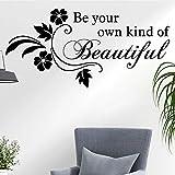 Las calcomanías de pared divertidas son su propio tipo de hermosas flores decoración del hogar calcomanías de vinilo de pared de fondo sala de estar sofá dormitorio
