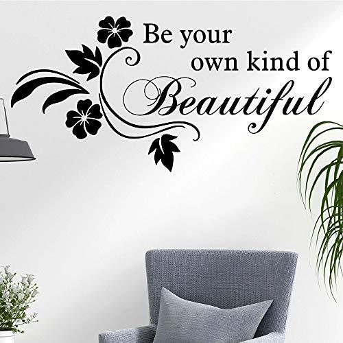 LKJHGU Lustige Wandtattoos sind Ihre eigene Art von schönen Blumen Wohnkultur Hintergrund Wand Vinyl Aufkleber Wohnzimmer Sofa Schlafzimmer