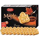 Gourmet Food Gifts! - Dare Maple Leaf Crème Cookies – Classic Canadian Cookie Made with Real Maple Syrup, Peanut Free – 10.6 Ounces (Pack of 12)
