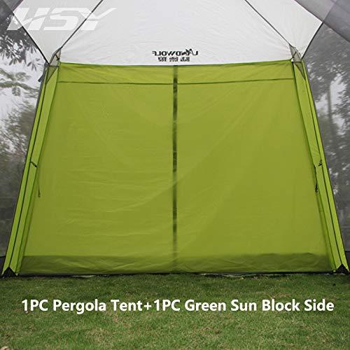 Ultralarge de Aluminio automático 300 * 300 * 210cm 5-8 Persona Anti-Mosquito Camping Tienda Gran Gazebo Sun Shelter (Color : with sunblcok Side)