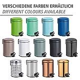 WENKO Kosmetik Treteimer Leman, 3 Liter, Badezimmer-Mülleimer, kleiner Abfalleimer mit herausnehmbaren Einsatz, aus lackiertem Stahl, 17 x 25 x 22,5 cm, Grün matt - 6