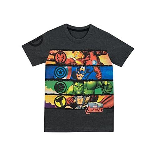 Marvel - Maglietta a Maniche Corta per Uomo - Avengers - 9 a 11 Anni