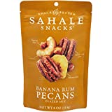 Sahale Snacks Banana Rum Pecans Glazed Mix, 4 Ounces (Pack of 6)