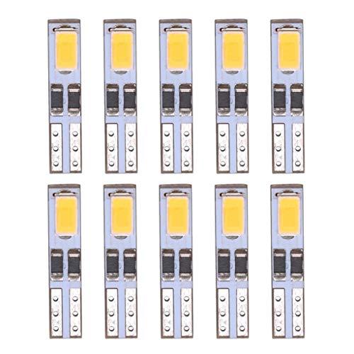 Shiwaki Bombillas LED T5-5630-2SMD Blancas Superbrillantes Universales de 21 W para Luz Indicadora.