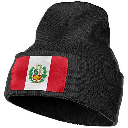 Bandera de Perú Hombres 's Mujeres' s Suave y cálido Beanie Hat Skull Sombreros Personalizados