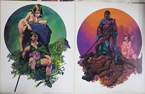 RICHARD CORBEN 2 PRINT SET: MIDNIGHT BATTLE & ANTICIPATION