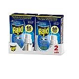 Raid – Ricarica per diffusore elettrico Protection Plus anti-zanzare comuni e tigre, regolatore e modalità alta protezione [confezione da 2]