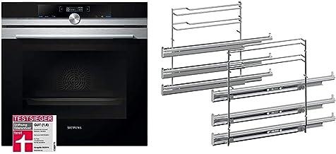 Siemens HB674GBS1 iQ700 Einbau-Elektro-Backofen/Edelstahl/A / activeClean Selbstreinigungs-Automatik & HZ638370 Backofen und Herdzubehör/Auszüge/Kochfeld/Sortimentsergänzung