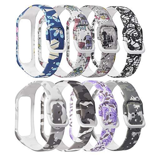 8 Pcs Correas de Reloj,Correa para Galaxy Fit 2 SM-R220,Bandas Correa Repuesto,Flexible Silicona Reloj Recambio Ajustable Brazalete Correa Repuesto Strap Wristband para Samsung Galaxy Fit 2 SM-R220