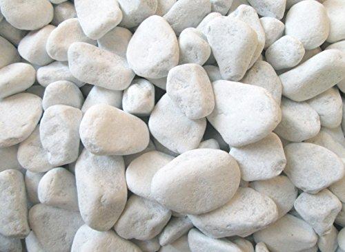 Xabian 20kg Dekosteine weiß 25-40mm wählbar auch 1kg - 5kg - 10kg