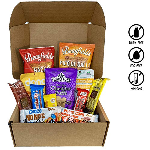 Vegan Seasonal Assorted Snack Box- Rich Chocolate Bars, Smoky Jerky, Candy, Nacho Chips, Cheddarish Crackers, and more! 100% VEGAN AND NON GMO. - VeganWorks - (12 ct.)