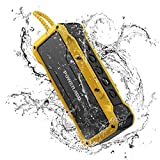 POWERADD MusicFly II 36W Portable Wireless Bluetooth Speakers, IPX7 Waterproof Bluetooth Speaker with Enhanced Bass, Built-in Mic for Home, Outdoors, Travel (Yellow)