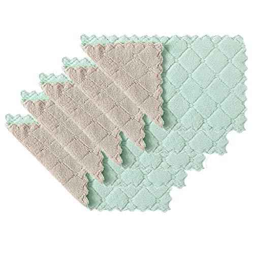 Geschirrtücher Lumpen Handtuch Antihaft Öl Korallen Samt Waschhandtücher Beste Küchentücher Reinigungstücher 5 STÜCKE