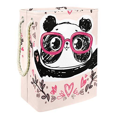 Cesta De Almacenamiento Panda de dibujos animados lindo Ropa Sucia Cesto De La Ropa Impermeable Plegable 49x30x40.5 cm