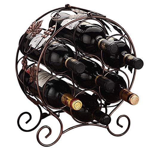 XUSHEN-HU Estante del Vino del sostenedor del Vino 7 Botellas con Patas encimera de Metal Estante del Vino de Mesa Vino de Almacenamiento sostenedores Soportes Hogar