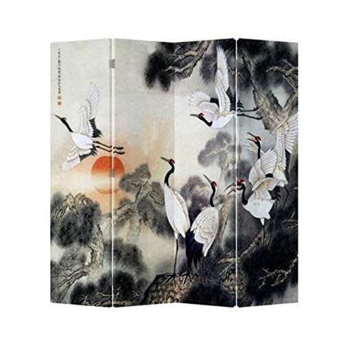 Fine Asianliving Chinese Oriental Room Divider Folding Privacy Screen 4...