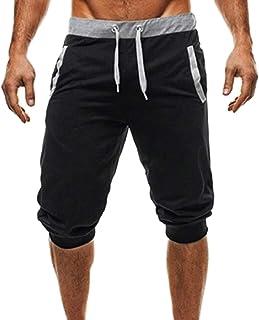 GAGA Men's 3/4 Training Jogger Capri Pants Athletic Gym Running Shorts