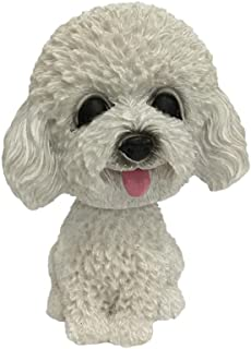 Bobble Head Toy, Iuhan Animal Swinging Animated Bobble Dancer Toy Car Decor Nodding Resin Puppy Dog (E)