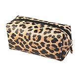 borsa da donna con cosmetici leopardati borsa da toilette con stampa leopardata pochette da donna per ragazze regalo chic da donna con cerniera borsa da polso