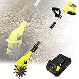 YHWD Schnurlose Bodenbearbeitungsmaschine, Mini Gartenfräsengrubber, Einstellbare Elektrische...