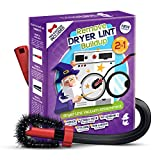 MagiLint Dryer Vent Cleaner Kit - 2 in 1 Brush and Vacuum Attachment for Cleaning Dryer Lint Trap - Universal Flexible Crevice Tool for Clean Under the Refrigerator - Universal Hose Adapter Cleaner